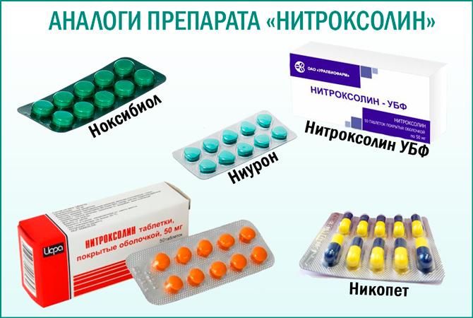 Препарат «Нитроксолином»: аналоги