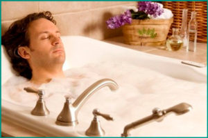 Горячая ванна при воспалении предстательной железы