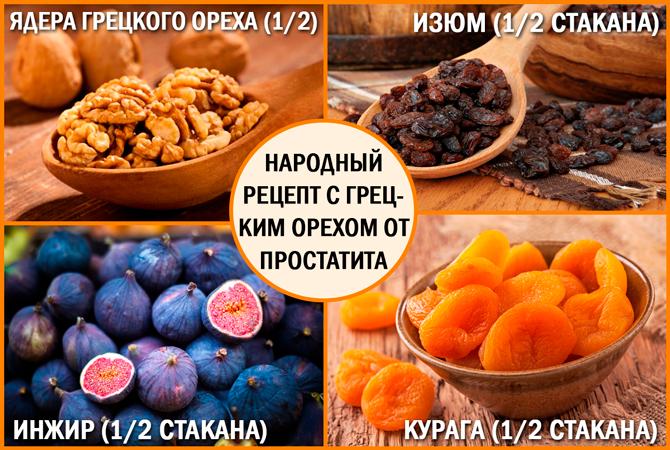 Лечение простатита грецким орехом: рецепт