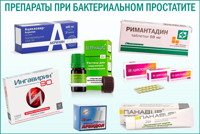 Медикаментозные средства от бактериального простатита