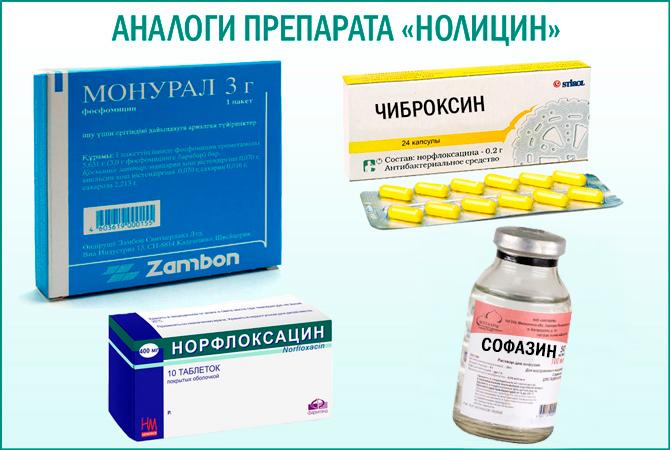 Препарат «Нолицин»: аналоги