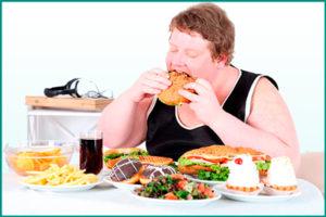Злоупотребление жирной, острой, жареной пищей