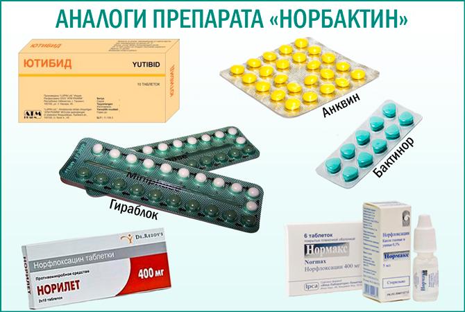 Препарат «Норбактин»: аналоги