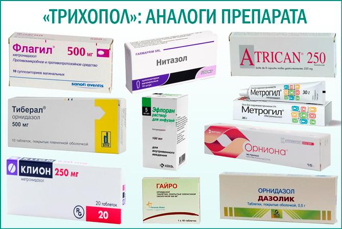 «Трихопол»: аналоги препарата