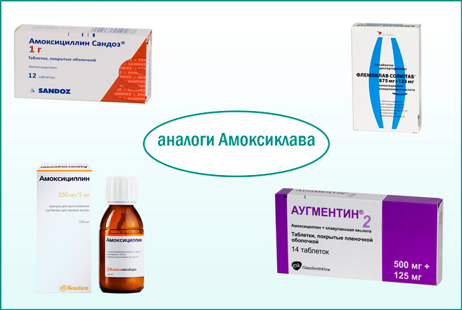 Амоксиклав: лекарства-аналоги