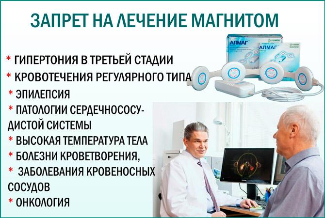 Лечение магнитом противопоказания