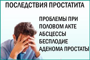 Простатит: запущение болезни