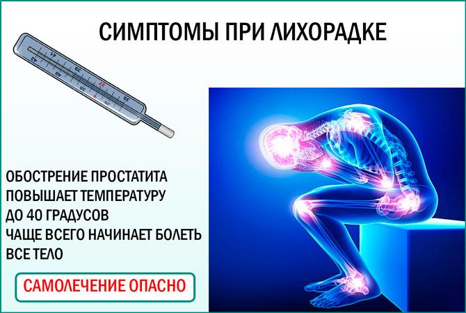 Повышение температура при обострении