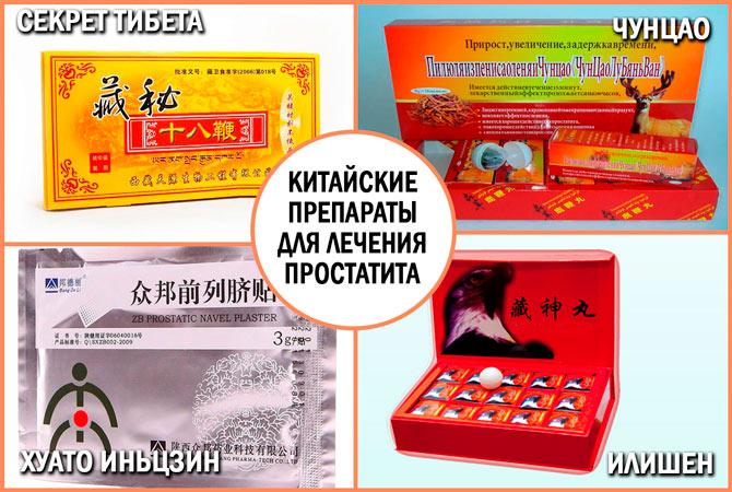 Китайские препараты от простатита