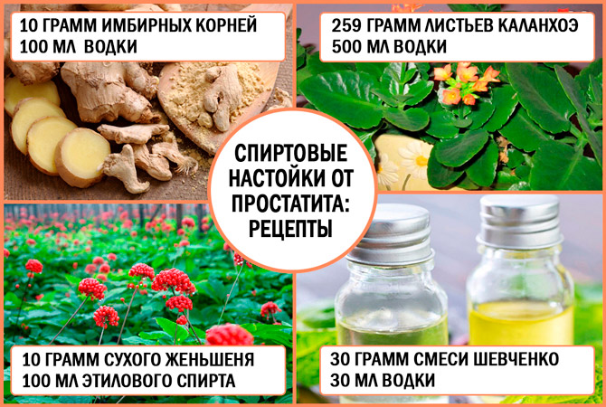 Спиртовые настойки от простатита: рецепты