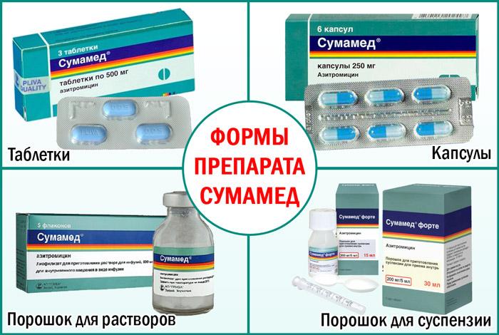 Формы препарата Сумамед