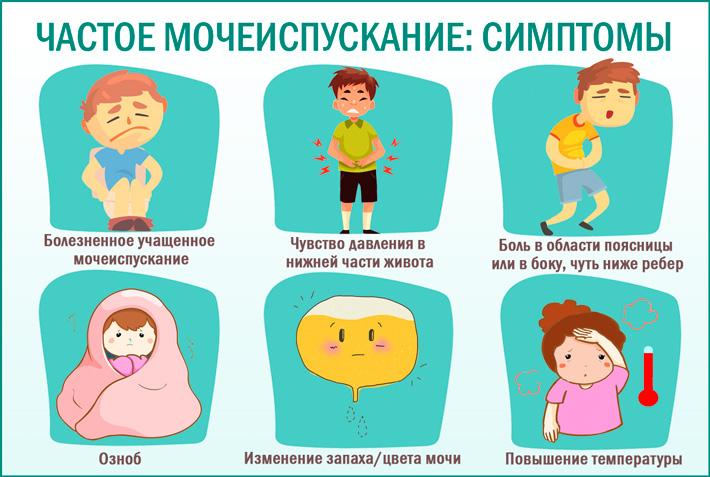 Частые позывы к мочеиспусканию: симптомы