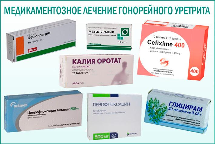 Медикаментозное лечение гонорейного уретрита