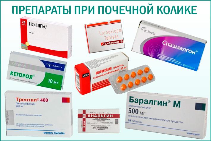 Лекарственные средства при почечной колике