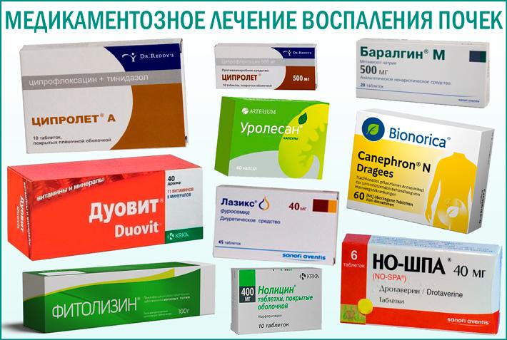 Лечение заболеваний почек таблетками