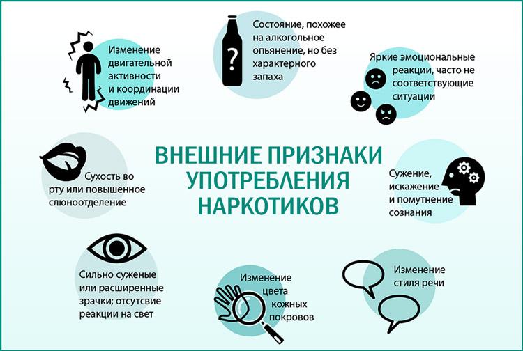 Как распознать употребление наркотиков