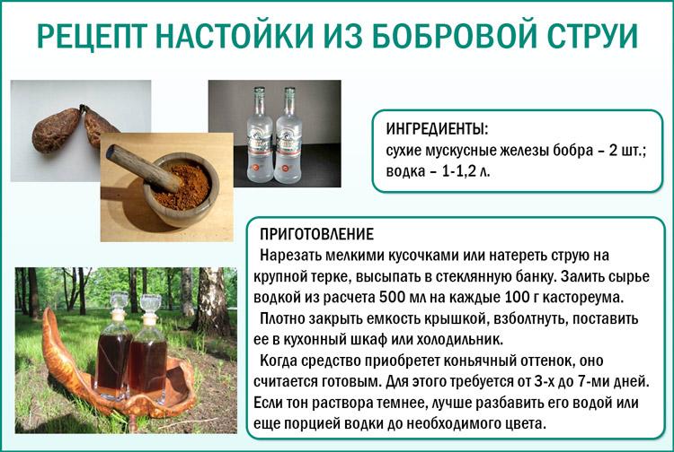 Как приготовить настойку бобровой струи