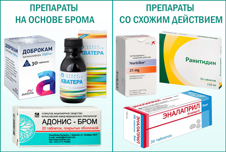 Препараты содержащие бром