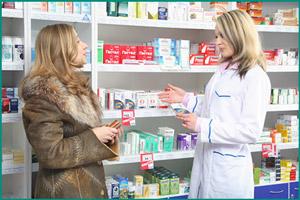 Приобретение препаратов в аптеке