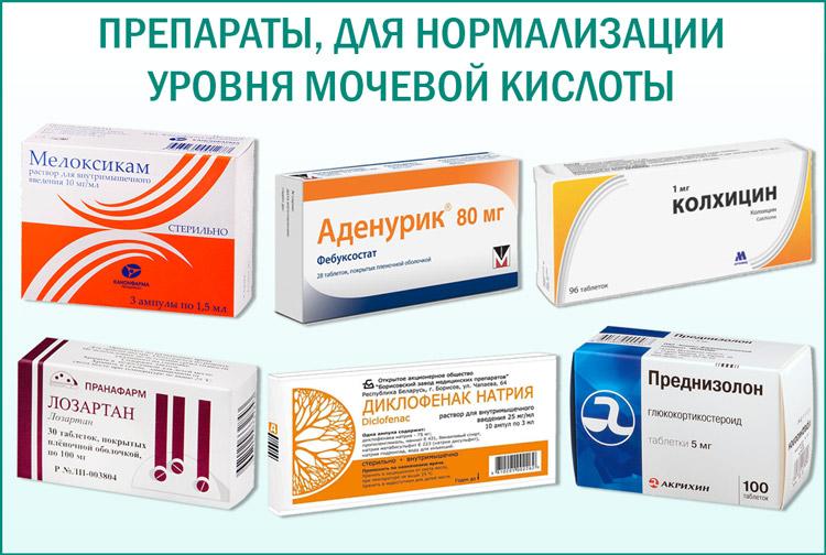 Препараты, для нормализации уровня мочевой кислоты