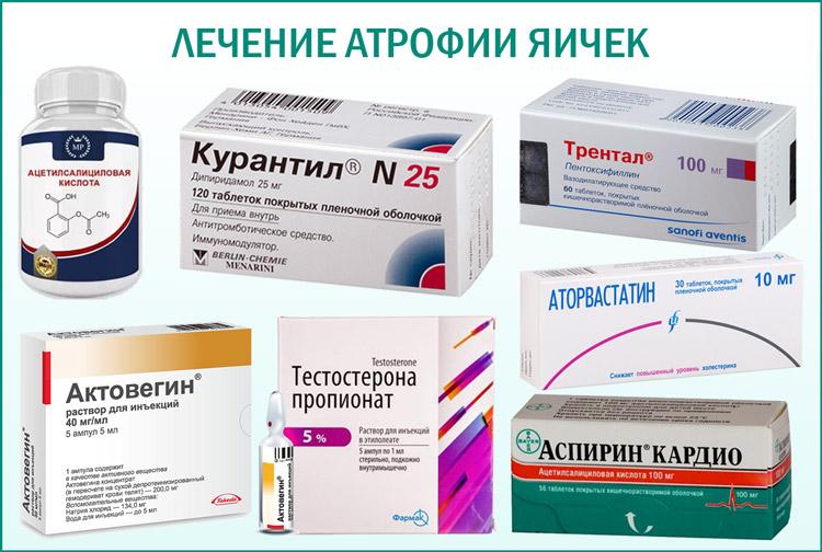 Лечение атрофии медикаментами